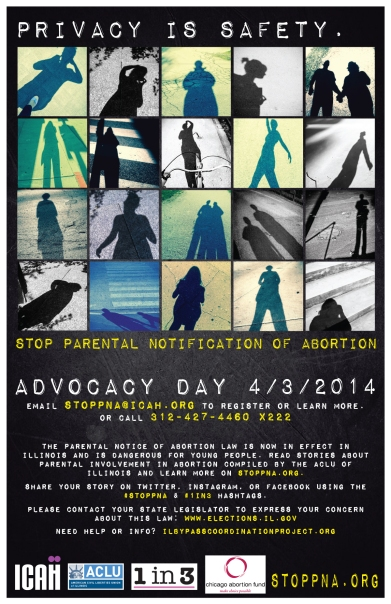 StopPNA Parental Notification Advocacy Day Illinois Poster Download