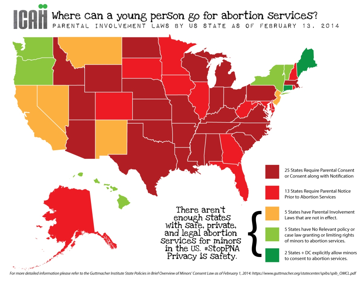 Where Can A Young Person Go For Abortion Services In The US - Us abortion map